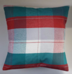 Cushion Cover Made in Next White Red Teal Check